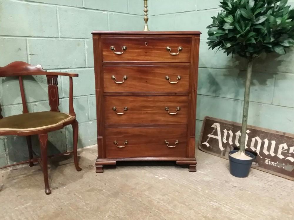antique georgian mahogany narrow chest of drawers c1780