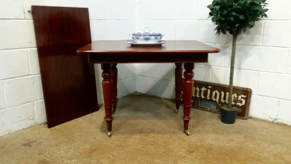 antique regency small mahogany extending dining table c1820