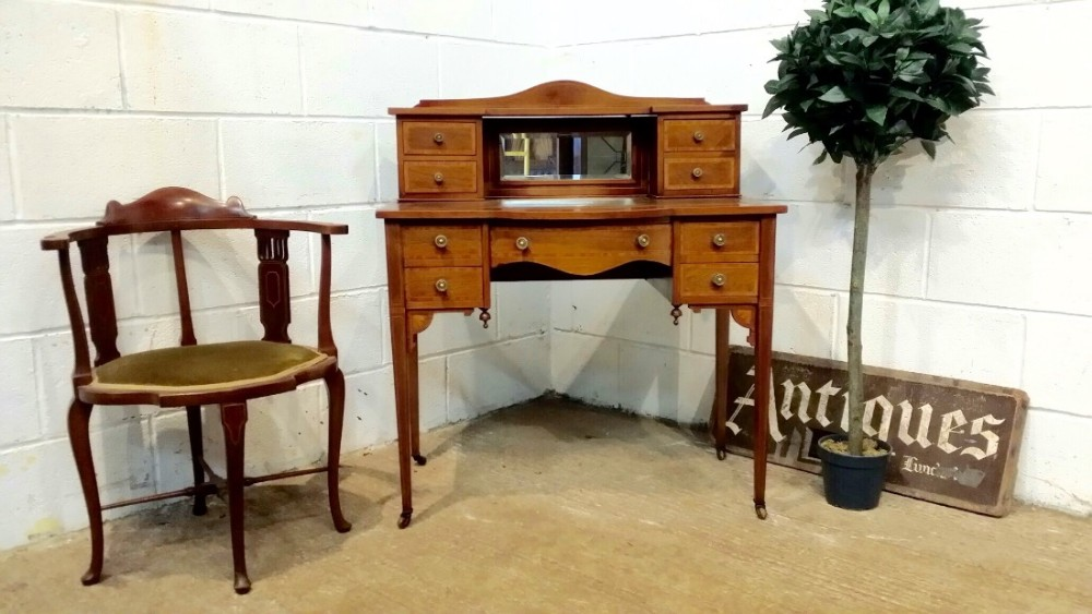 antique edwardian mahogany ladies bon heure du jour desk c1900