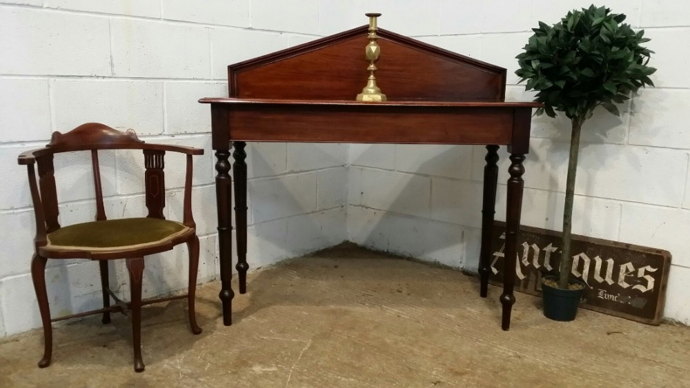 antique victorian mahogany hall side table c1880