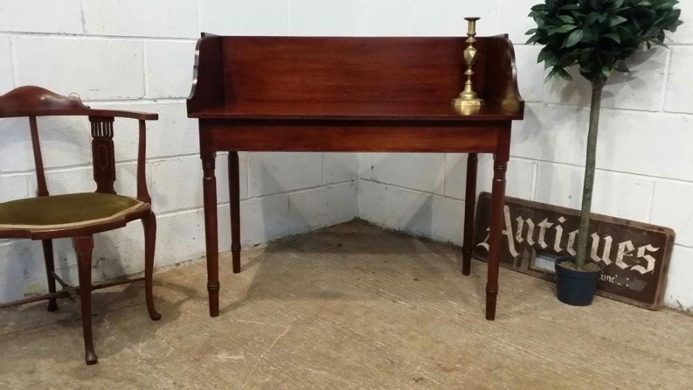 antique regency mahogany washstand side table c1820