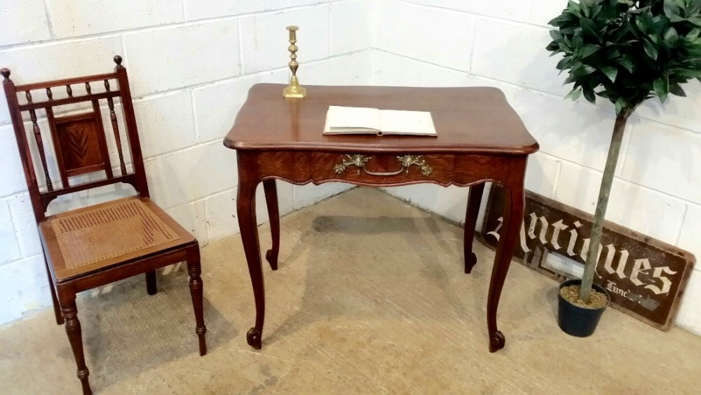 antique late 19th century french provincial oak side table c1890