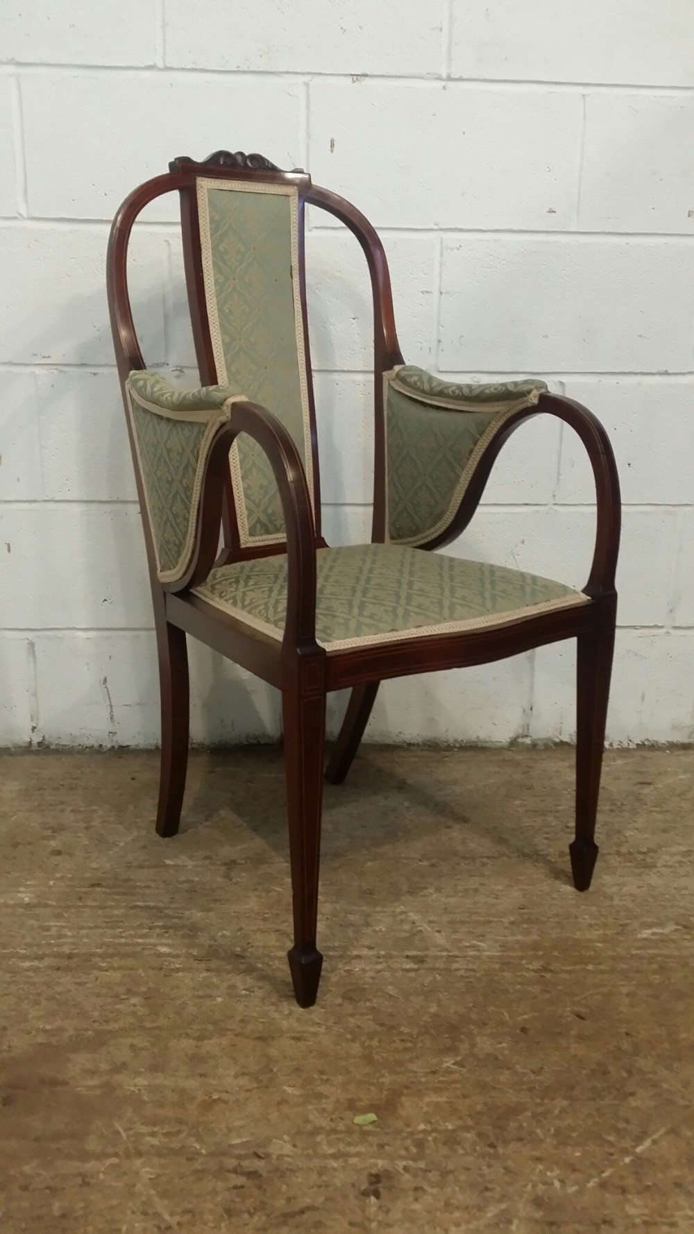 Fabulous Antique Edwardian Aesthetic Mahogany Library Desk Chair Pabps2019 Chair Design Images Pabps2019Com
