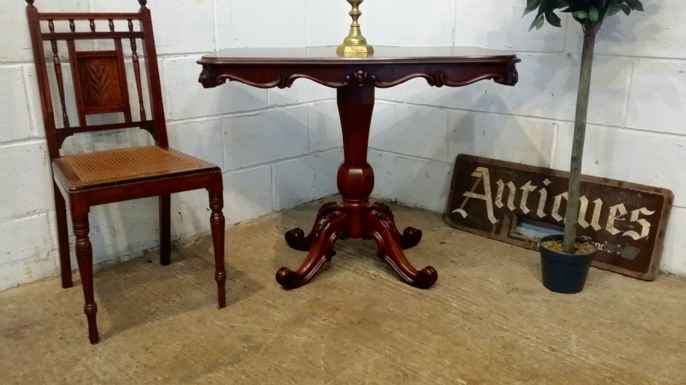antique victorian mahogany side centre table c1880