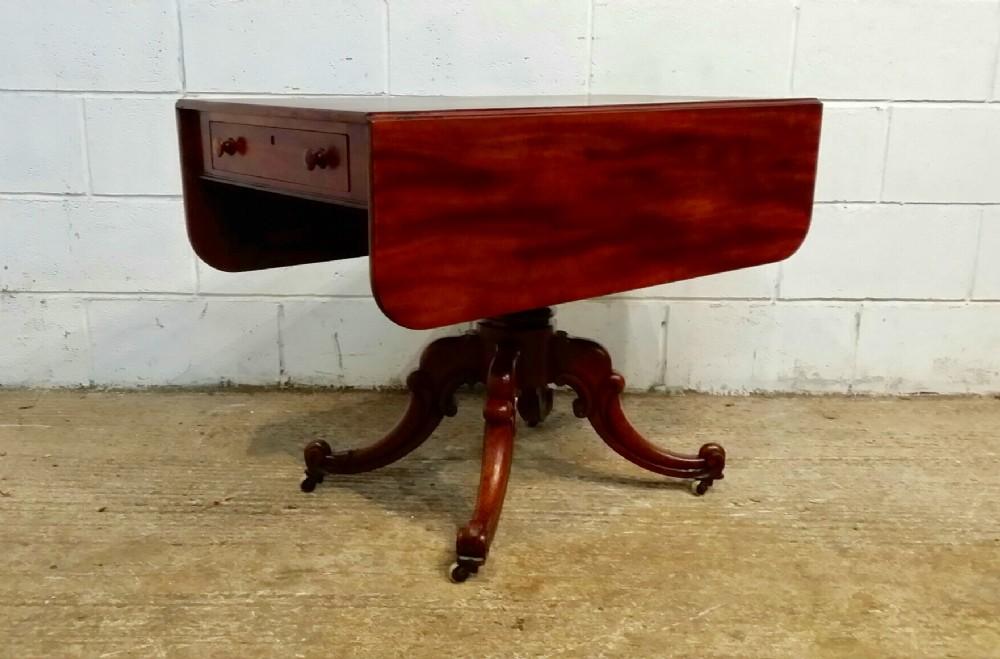 antique william 1v mahogany pembroke table c1830