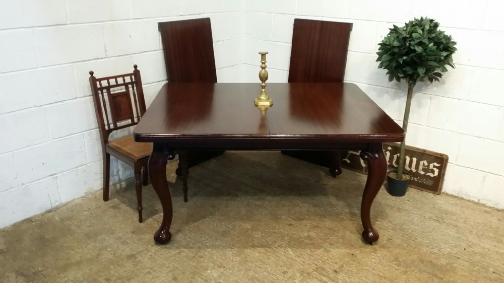antique edwardian mahogany extending dining table seats up to 12 c1900