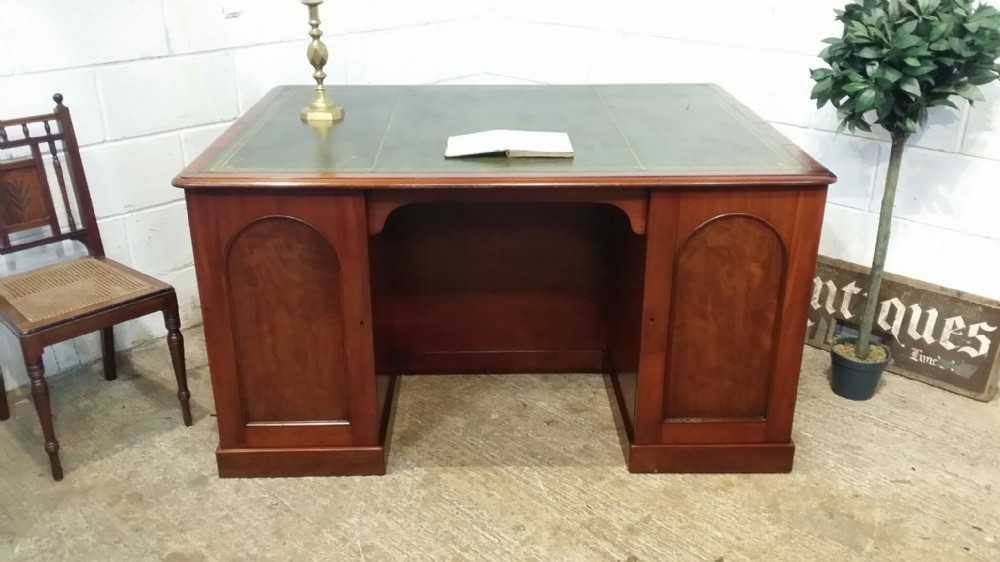 antique victorian mahogany partners desk c1880