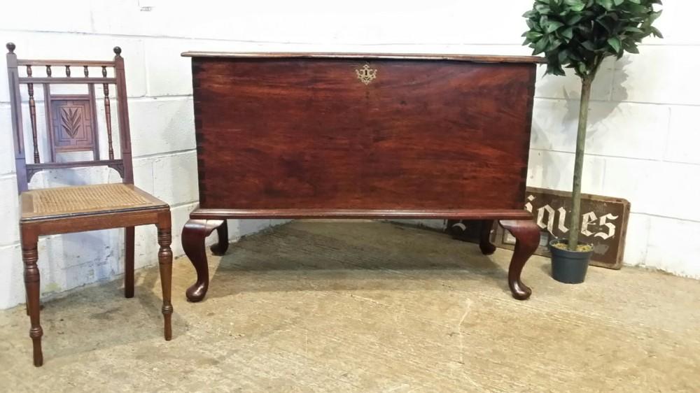 antique georgian period mahogany box on original legs c1780