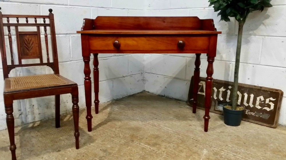 antique victorian mahogany washstand table c1880
