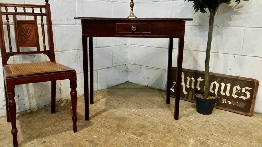 antique georgian period mahogany side table c1780