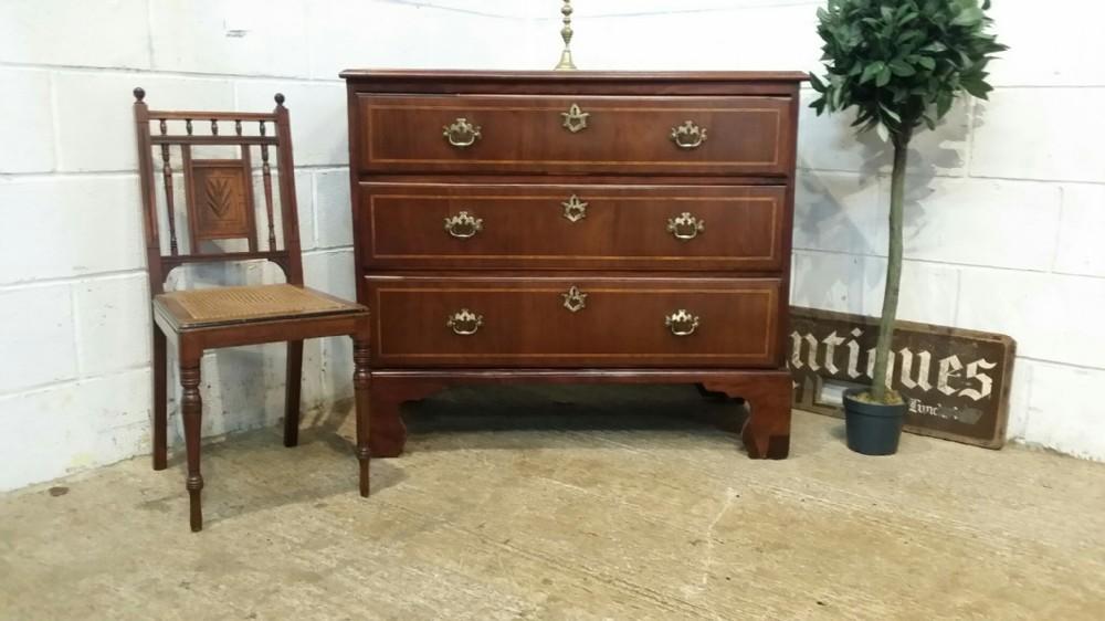 antique georgian period mahogany inlaid chest of drawers c1780