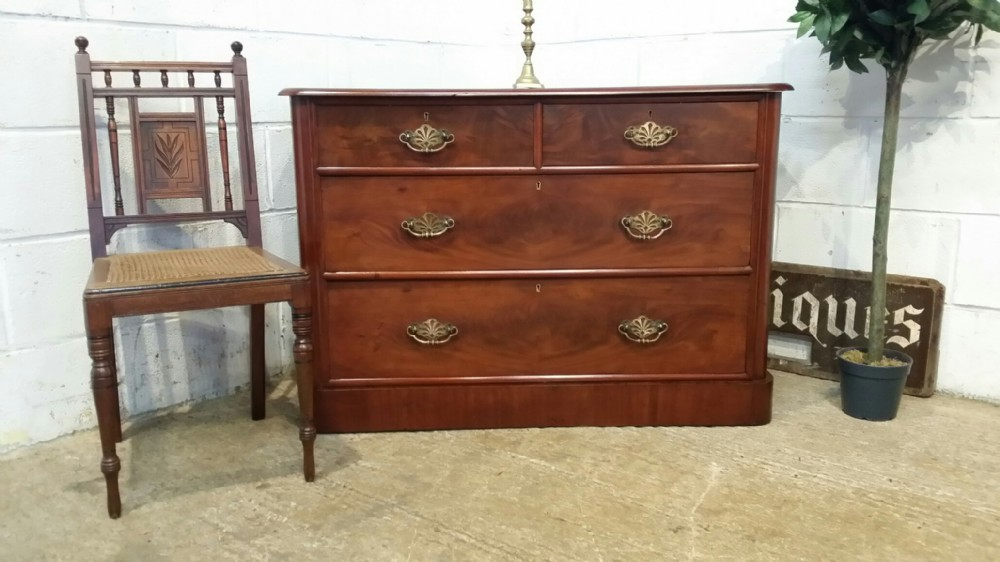 antique victorian mahogany small chest of drawers c1880