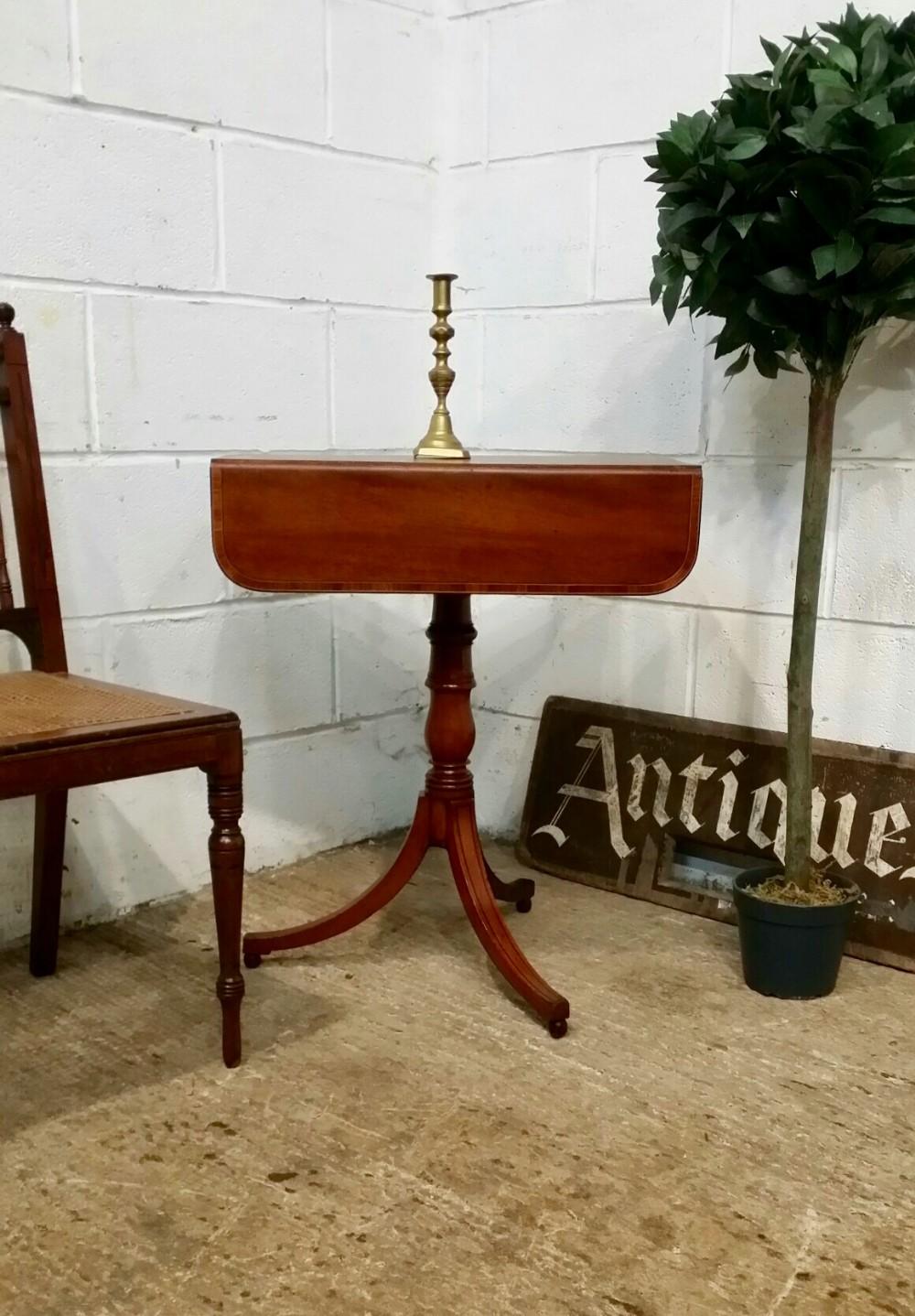 antique regency mahogany drop leaf side table c1820