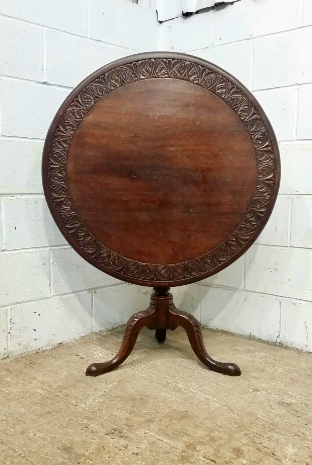 antique georgian period oak tilt top tea table c1780