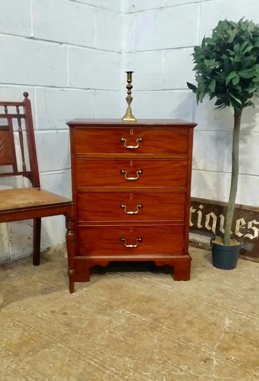 antique edwardian small mahogany chest bedside cabinet c1900