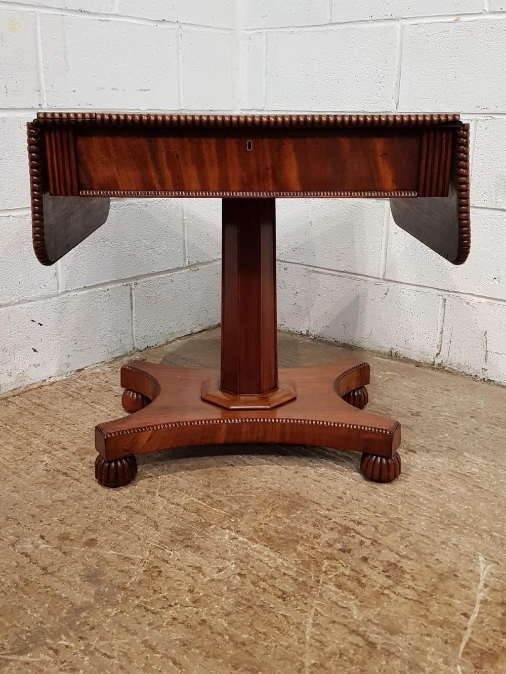 antique regency mahogany drop leaf sofa table c1820