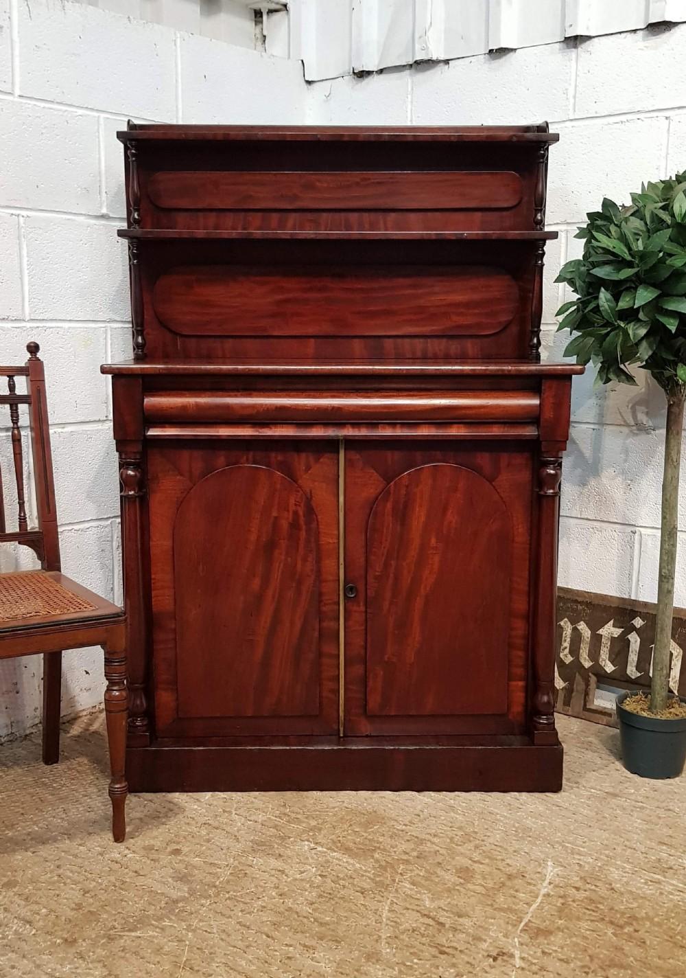 antique small william 1v mahogany chiffonier c1830