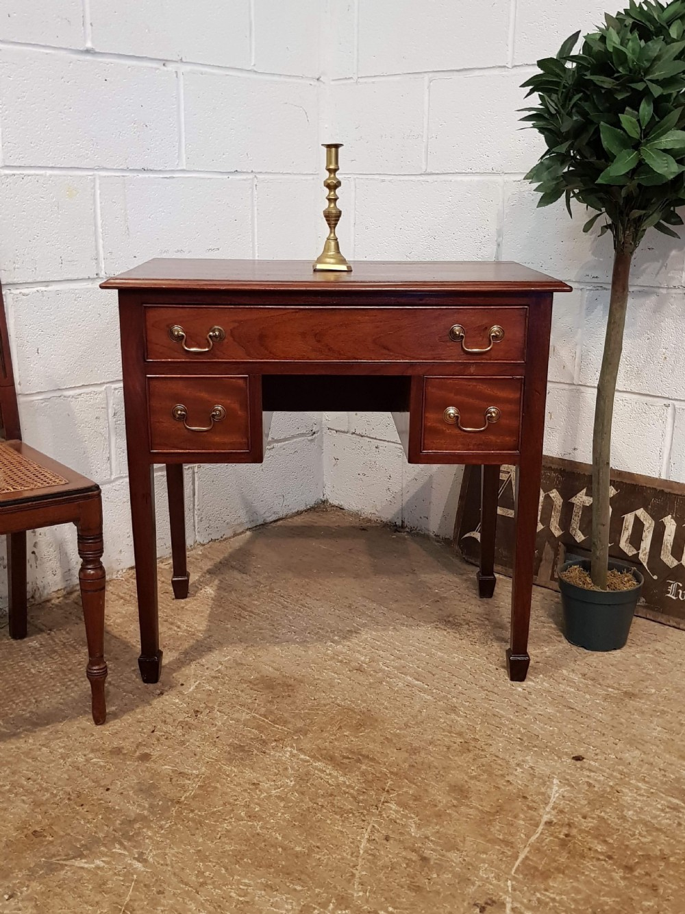 antique late victorian small mahogany lowboy c1890