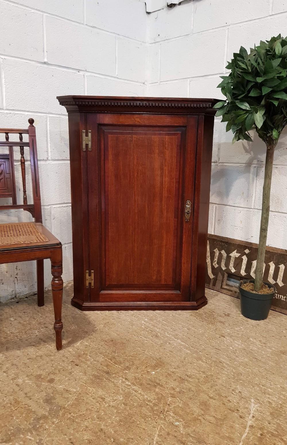 antique georgian period oak corner cabinet c1780