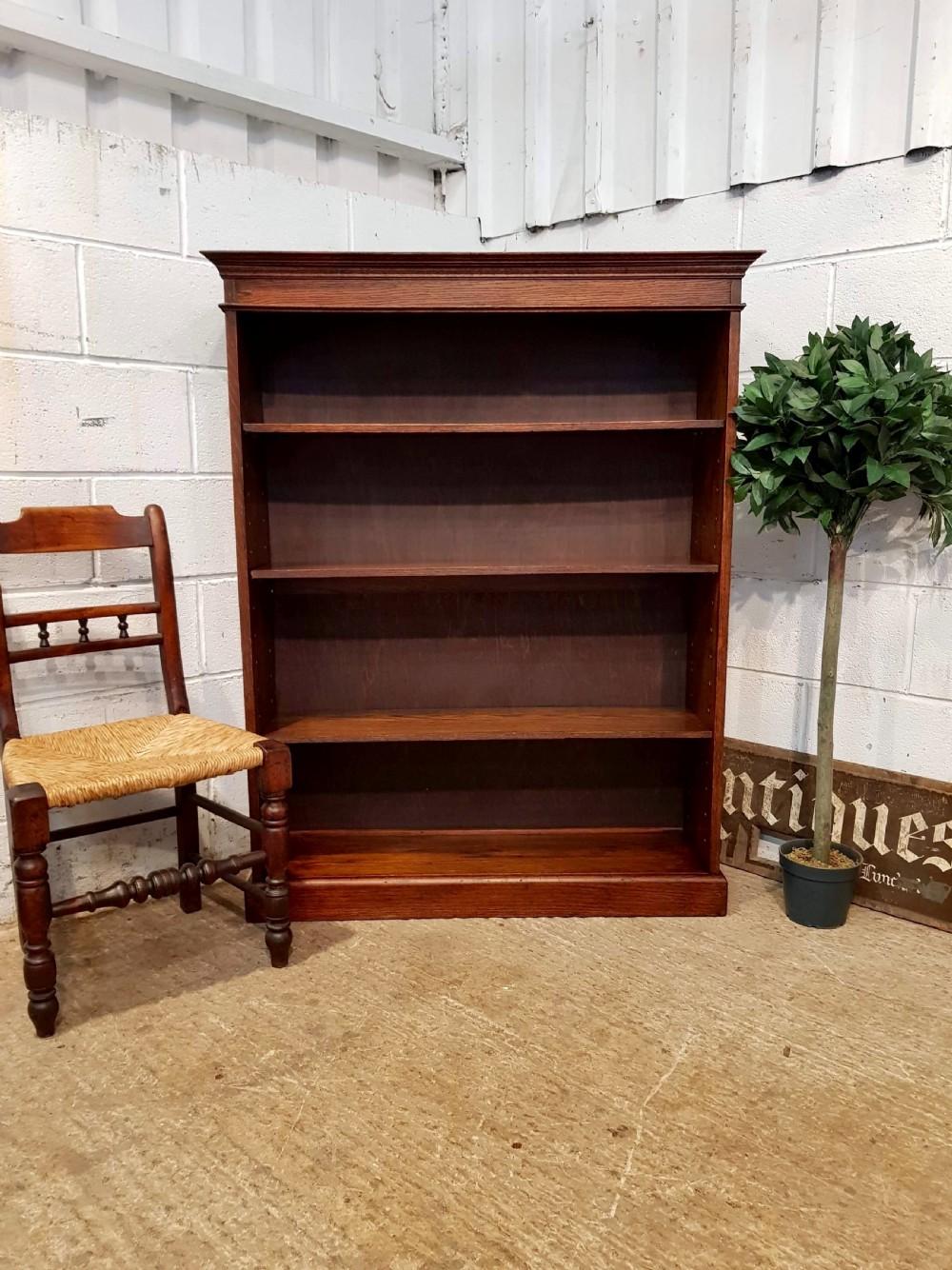 antique victorian oak bookcase c1880