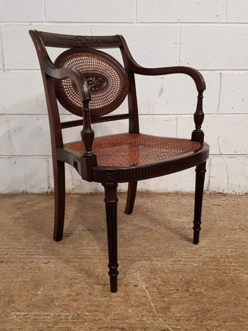 antique edwardian regency mahogany berger library chair c1900