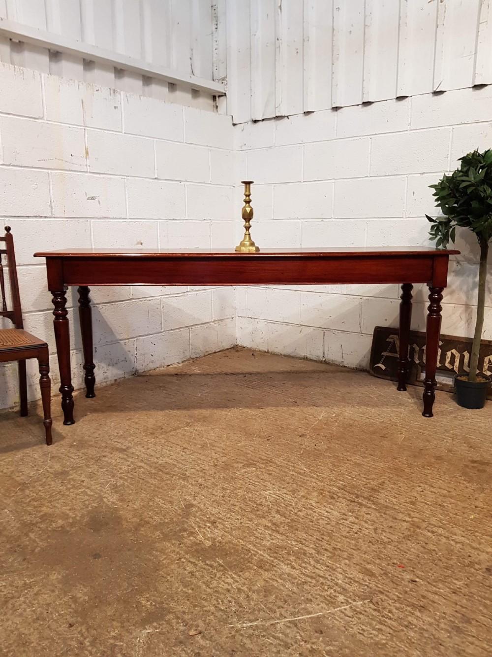 antique victorian mahogany long narrow console table c1880