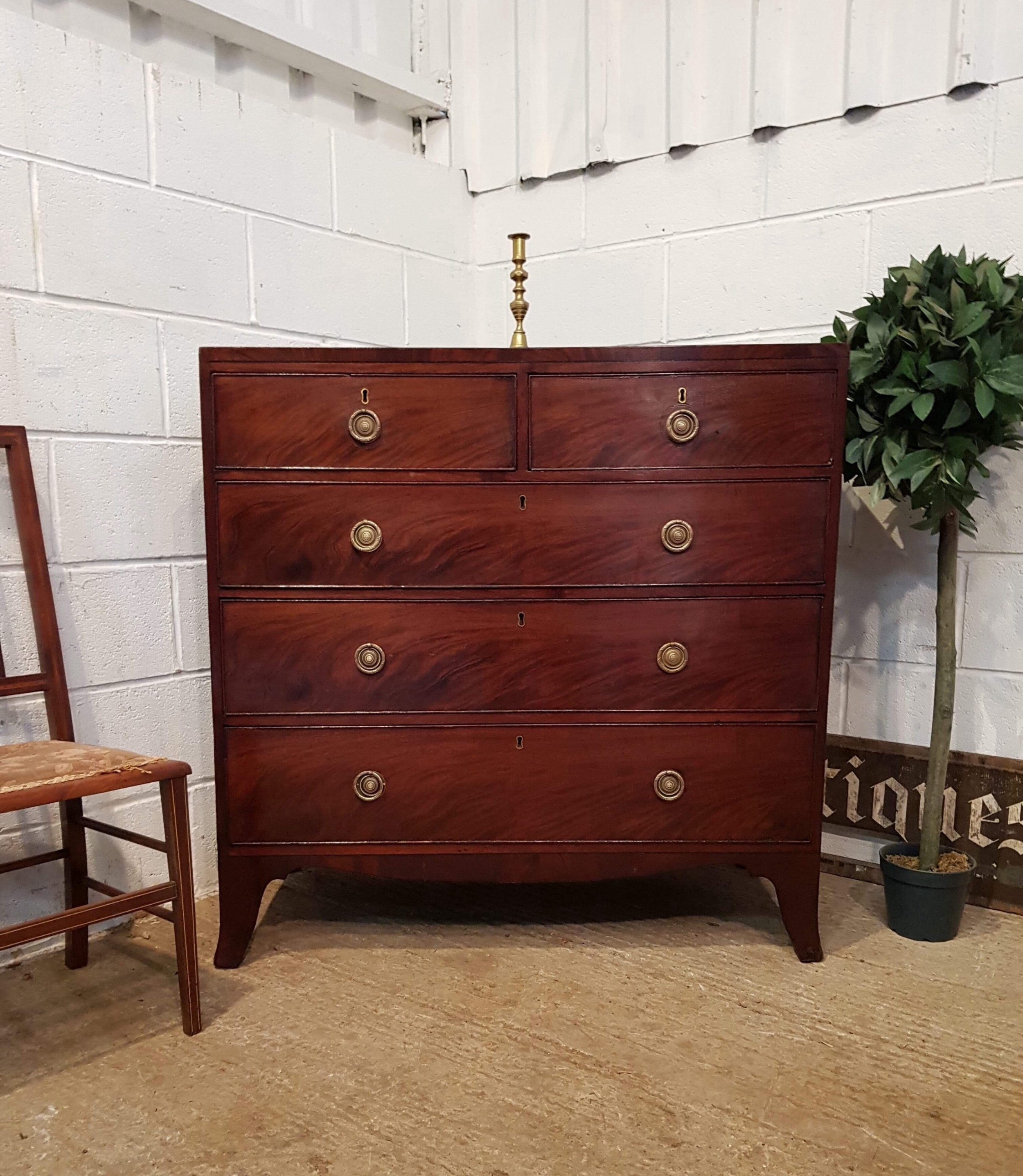 antique regency mahogany chest of drawers c1820
