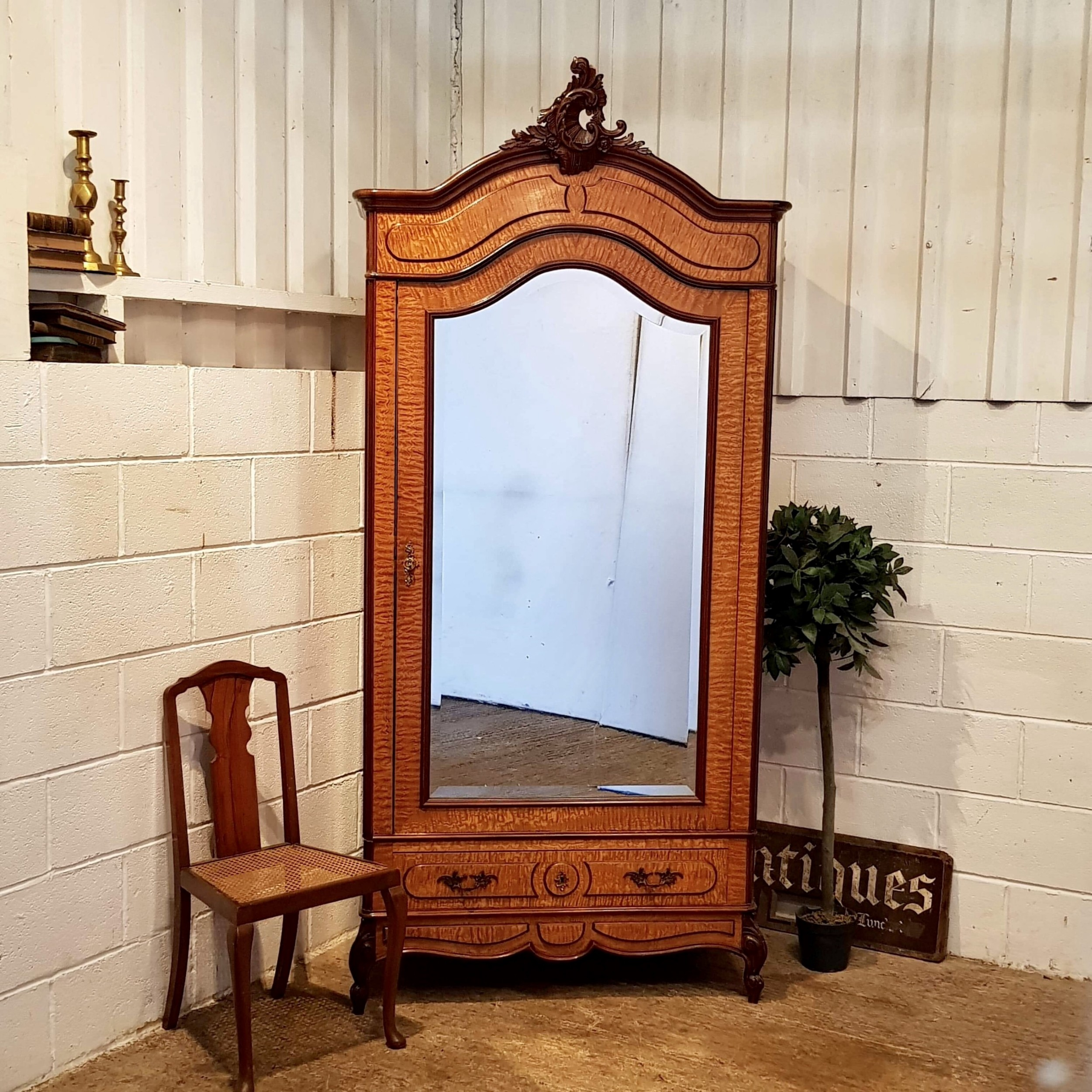 superb antique 19th century maple mahogany french armoire c1880