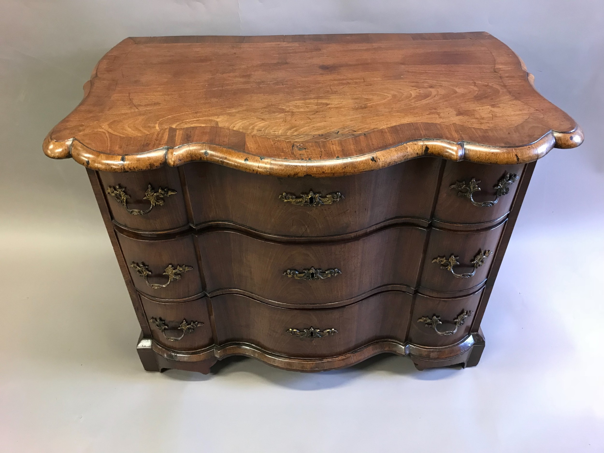 a small 18th century dutch walnut commode chest