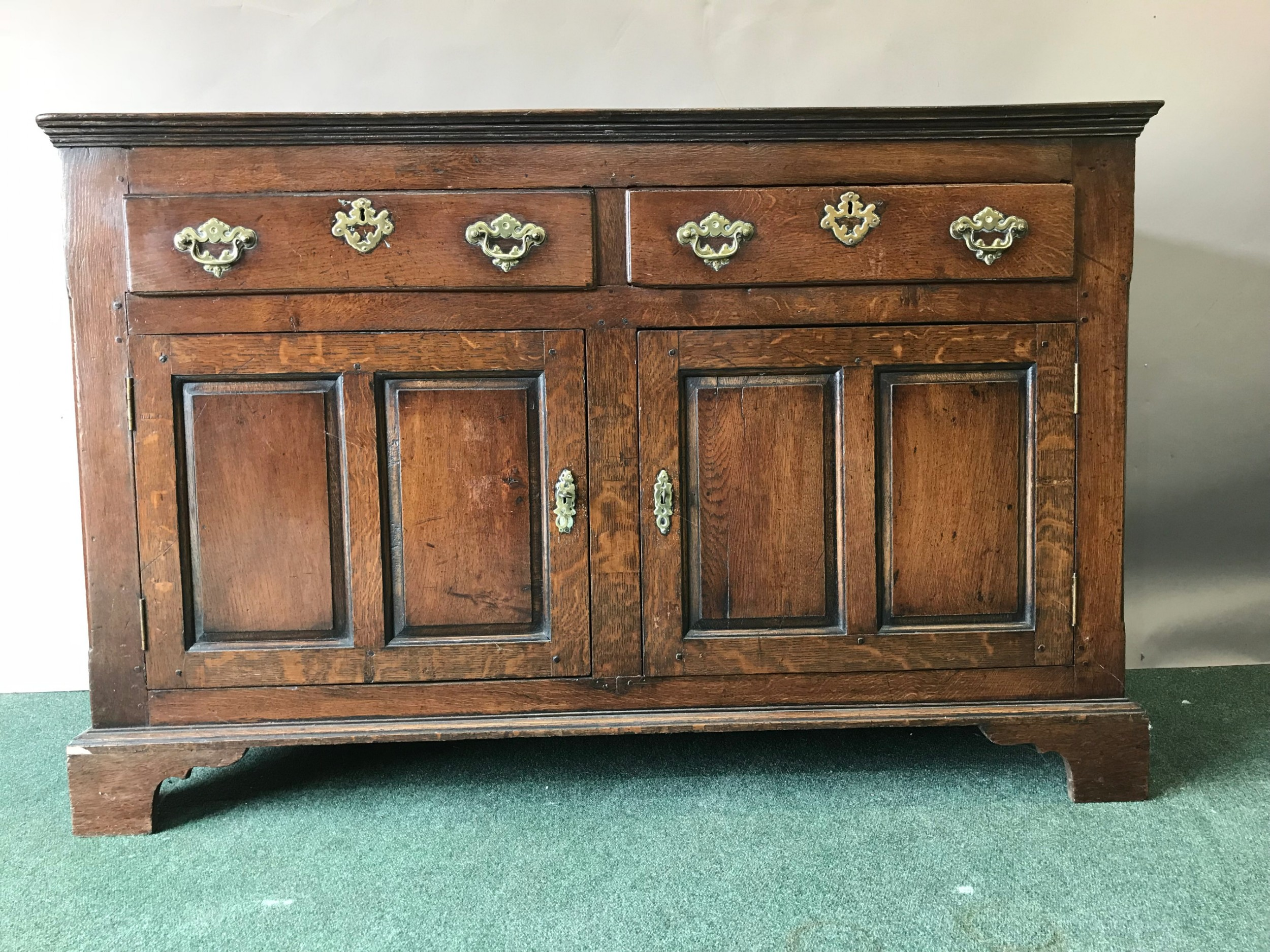 18th century english oak two door dresser