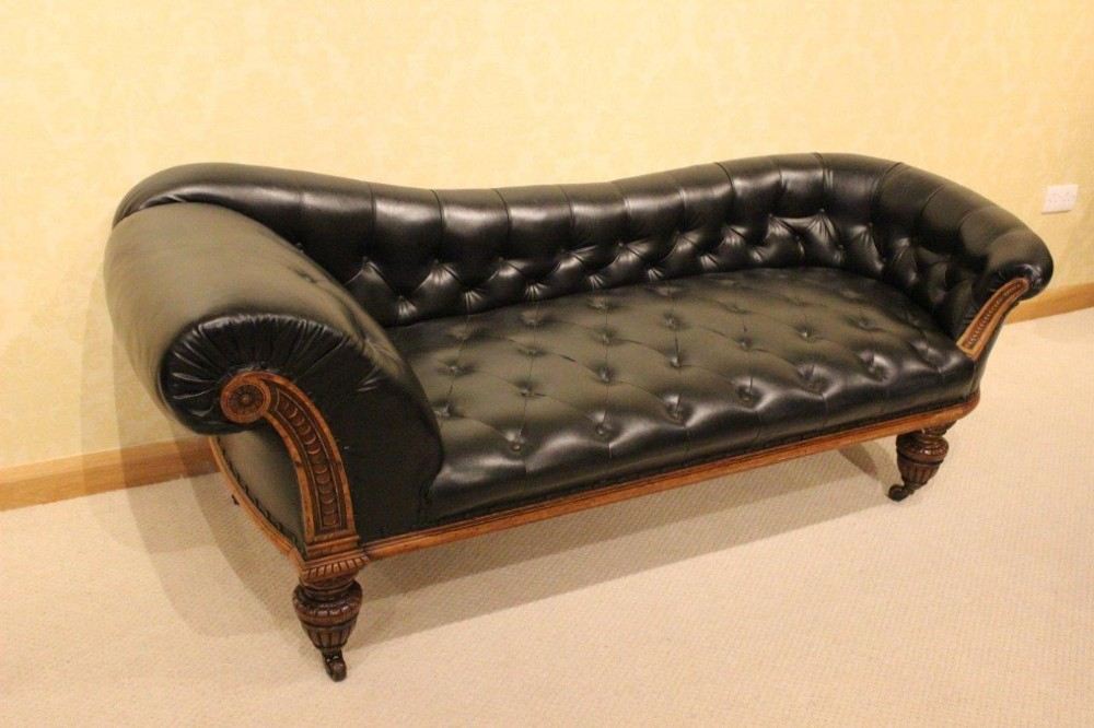 Oak A Large Antique Longue Aesthetic Victorian Chaise Period WDIe29bYEH