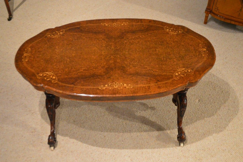 An Exquisite Quality Burr Walnut Victorian Period Coffee Table Adapted 322610