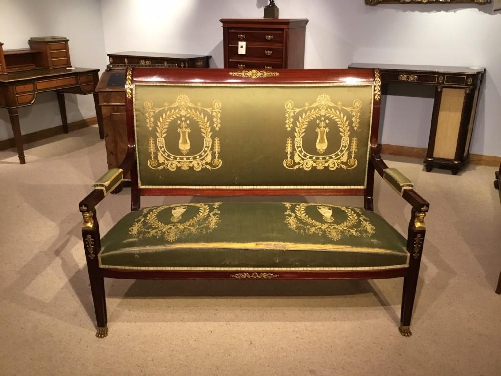 a mahogany french empire style canap