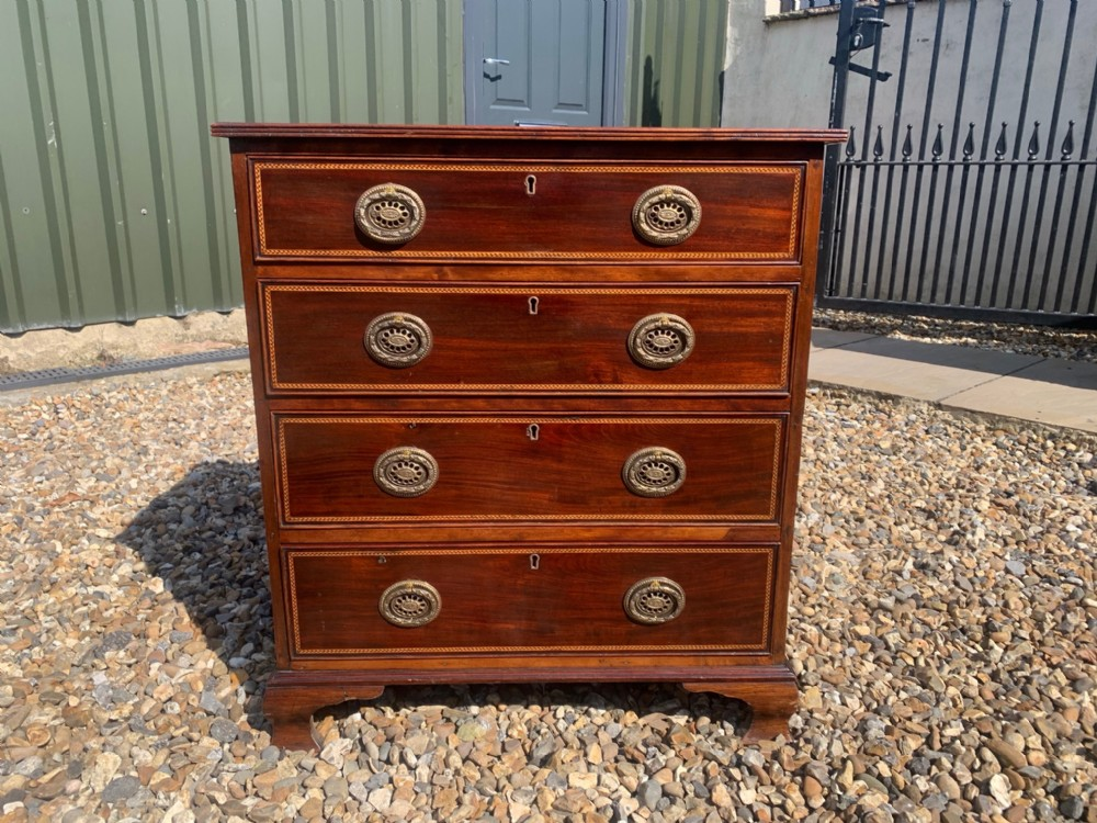 a george iii style mahogany chest of drawers