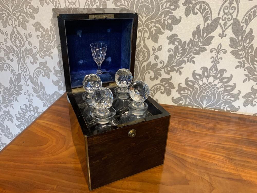 a rare victorian period coromandel decanter box c18701880