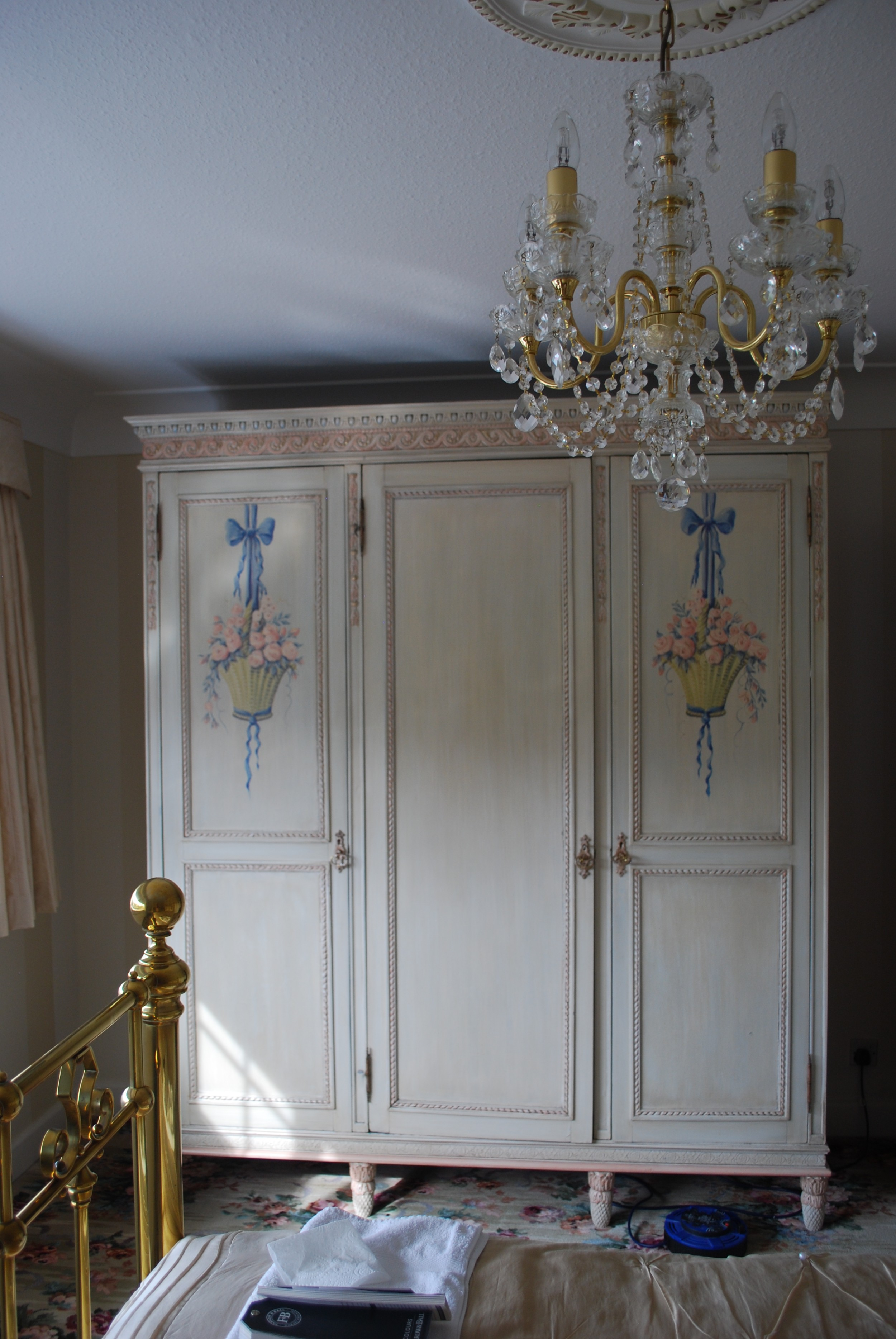 a late 19th century french painted bedroom suite