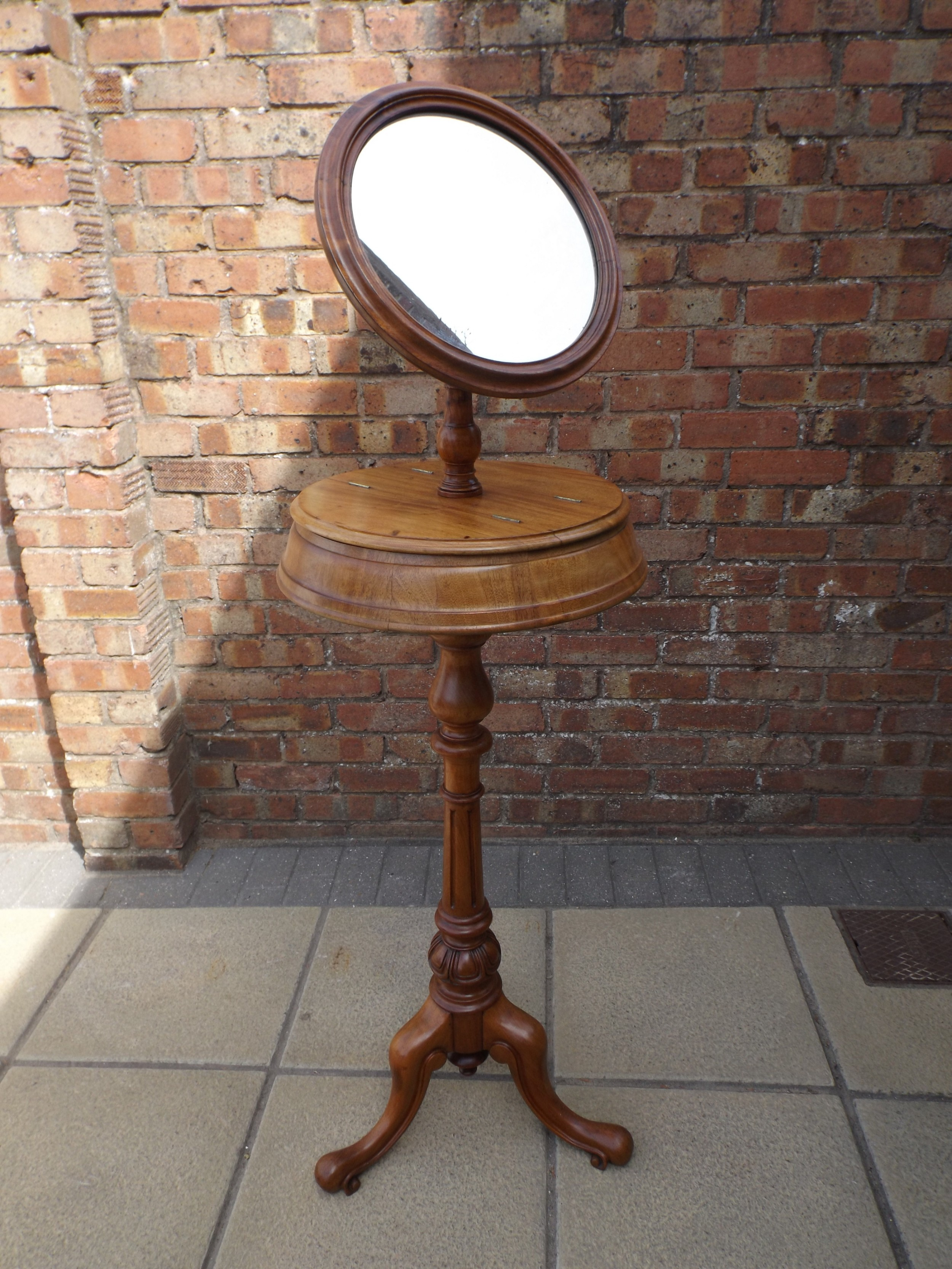 c1870 gentleman's dressing stand in mahogany