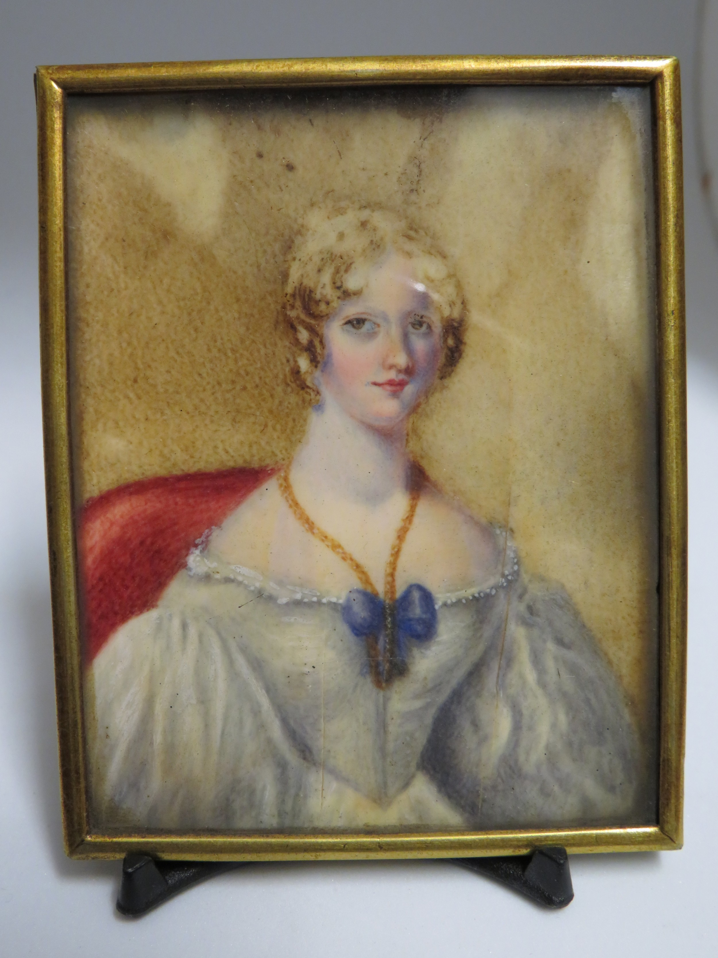 miniature portrait jane sawyer daughter of admiral herbert sawyer
