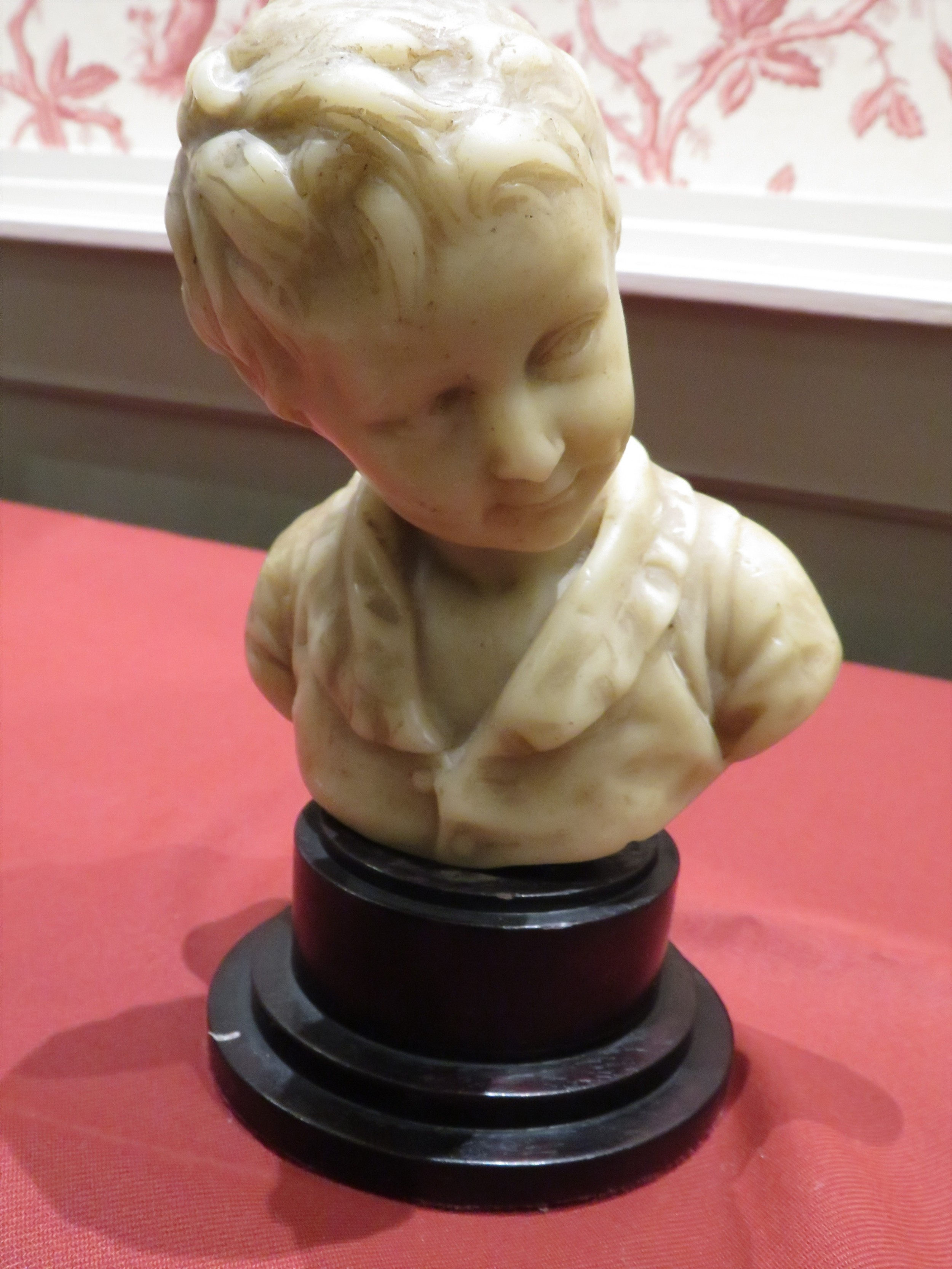 19th c wax bust of a young alexandre brongniart after houdon