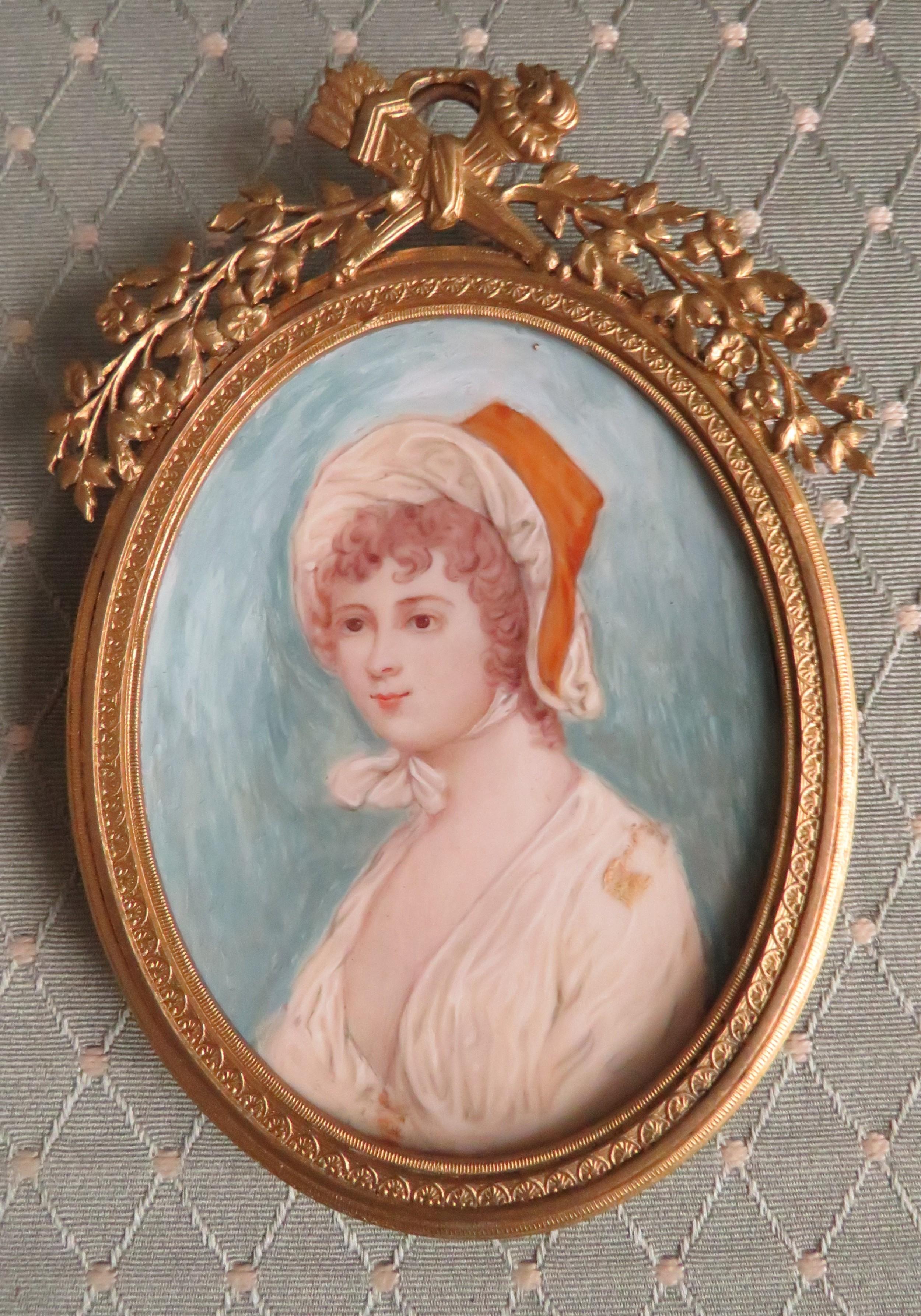 miniature portrait french school 1 of 3 gilt frame