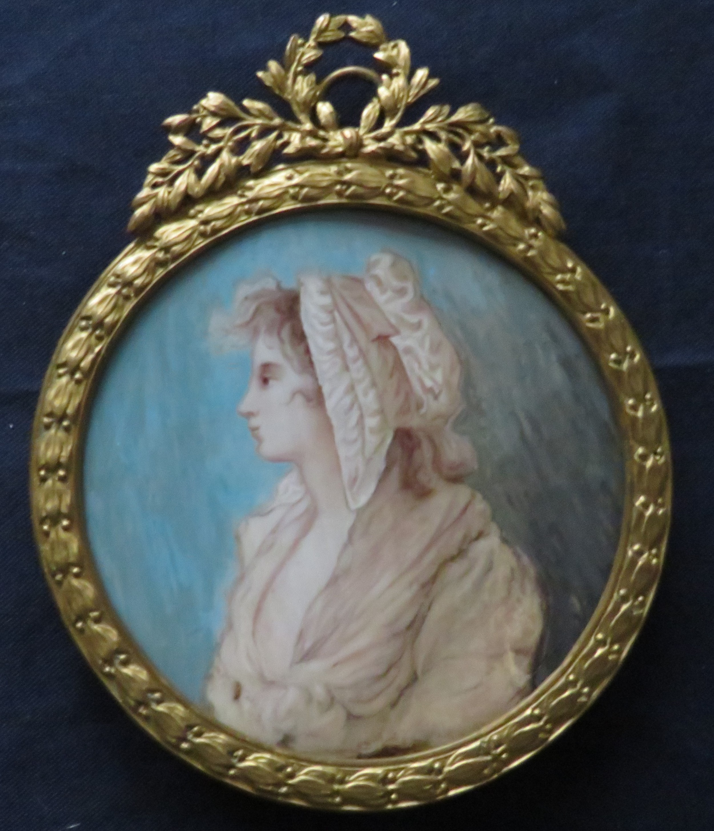 miniature portrait french school 3 of 3 gilt frame