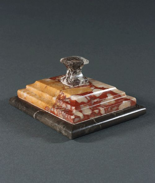 grand tour specimen marble paperweight