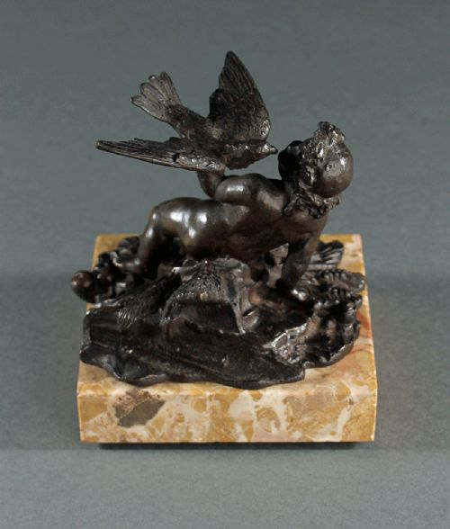 italian 18th century bacchanalian putti bronze