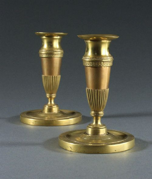 pair of early 19th century english regency candlesticks