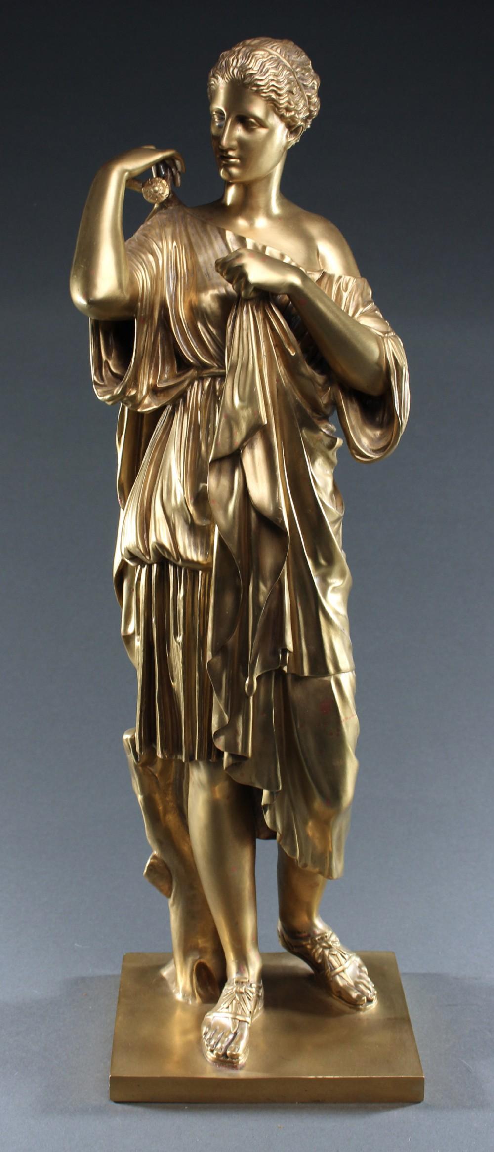 large bronze sculpture of the diane de gabies