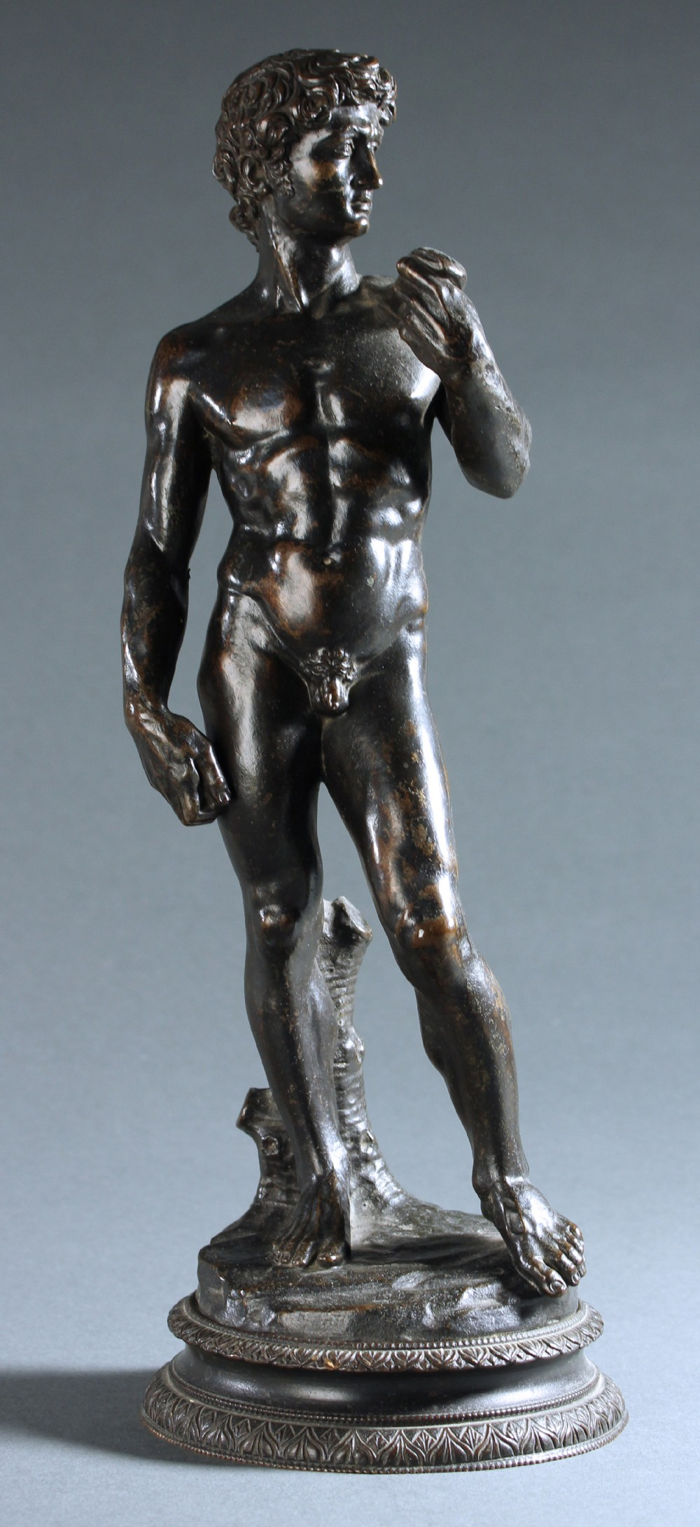 rare grand tour patinated bronze of michelangelo's david