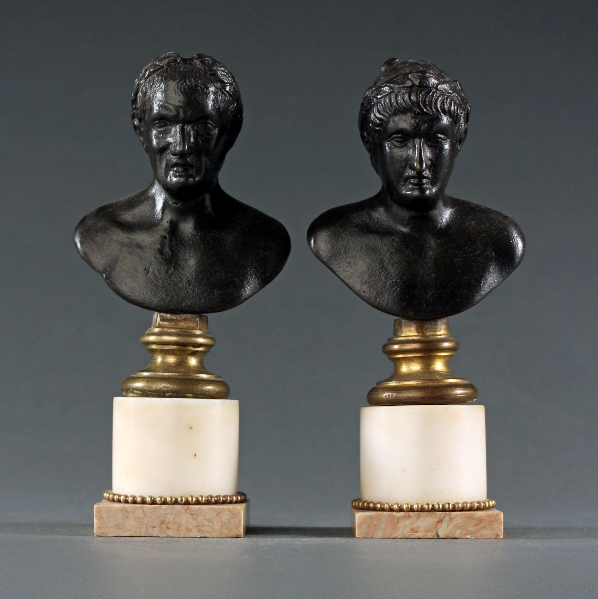 rare pair of renaissance period classical emperors