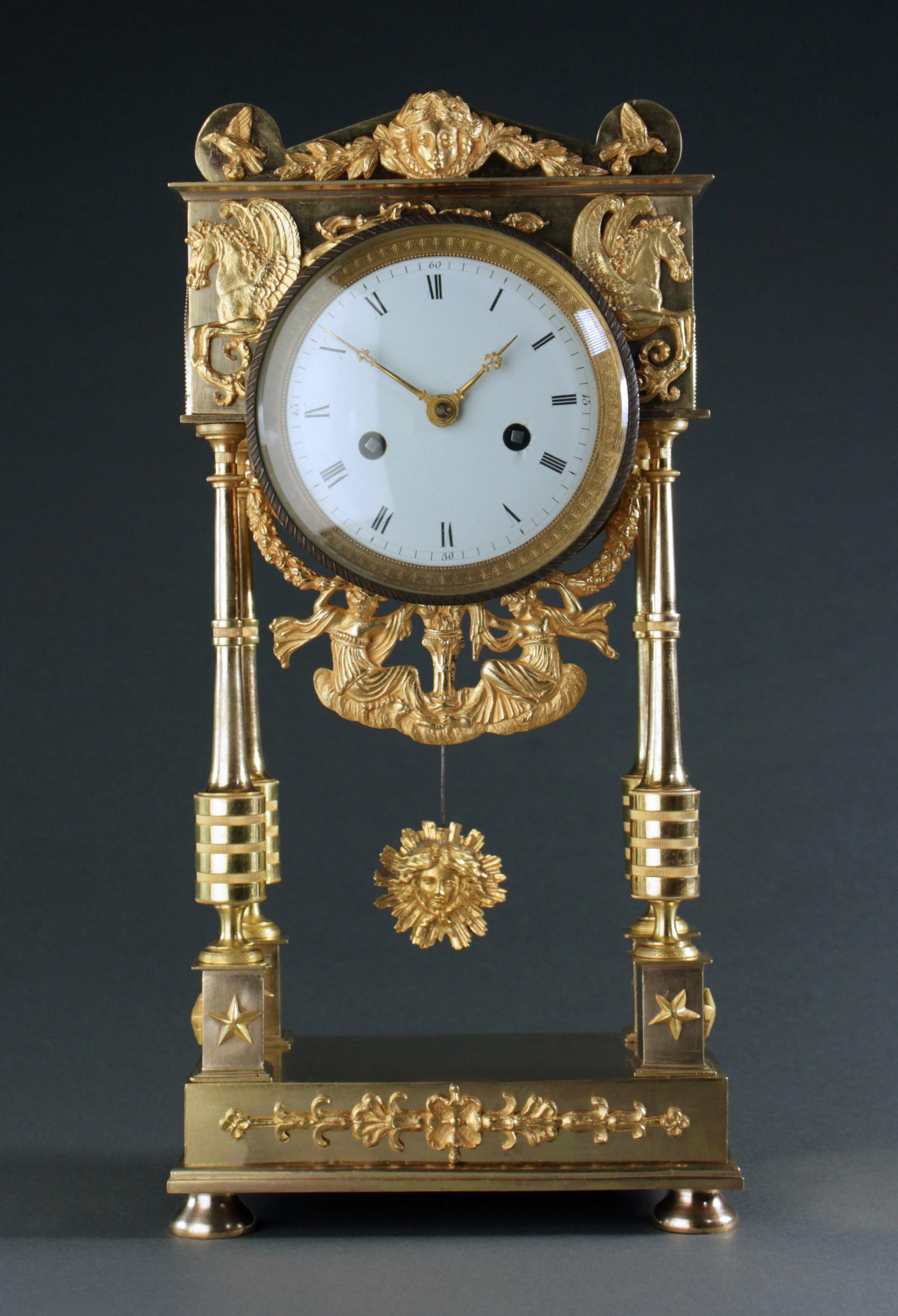 french empire period portico clock