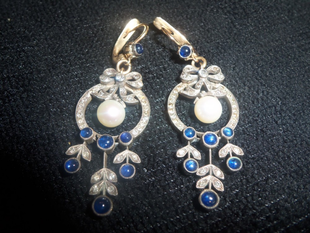 Sapphire earrings uk antique watches