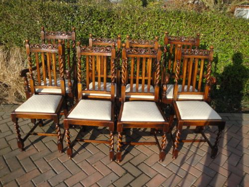 set of 8 antique oak dining chairs - Set Of 8 Antique Oak Dining Chairs  268240 - Antique Oak Dining Chairs Antique Furniture